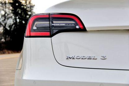 Model 3 Badge Emblem Chrome Rear