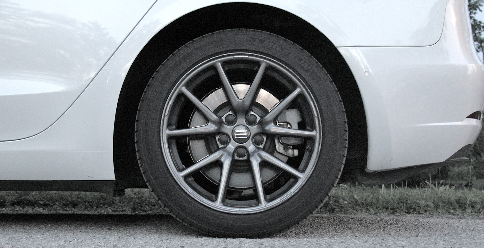 Model 3 Aero Wheel Cover After Removed