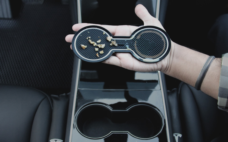 Model 3 cup holder cleaning