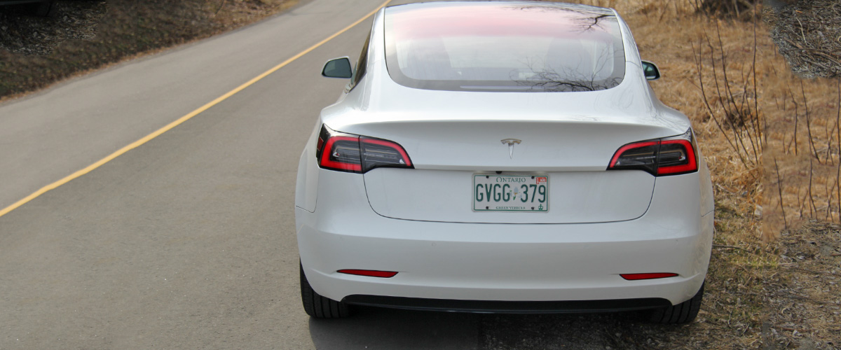 Model 3 with badge