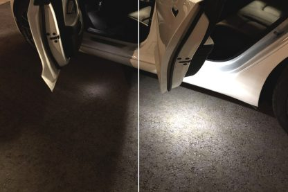 Model 3 puddle light before/after