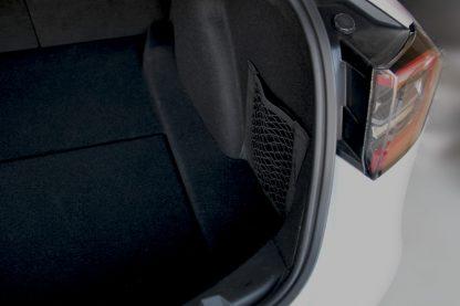 Model 3 trunk organizer pocket nets corner