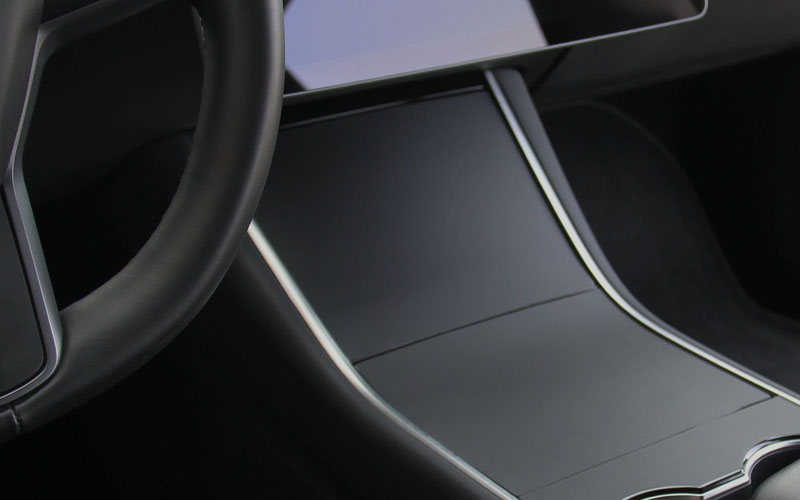 Center Console wrap matte gray