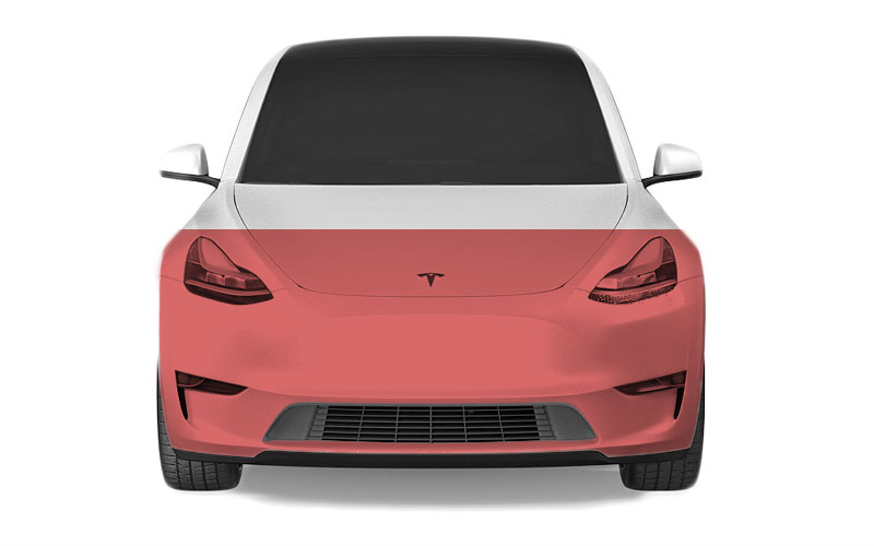 Model Y Paint Protection Film PPF coverage partial