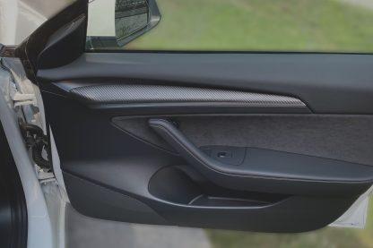 Tesla Carbon Fiber Door Trim